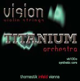 Thomastik Vision Titanium Orchestra 4/4 Violin String Set - Medium Gauge